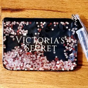 VICTORIA's SECRET Glitter Sequins Wristlet bag NWT
